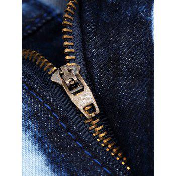 Repaired Color Painted Jeans - DENIM BLUE 38