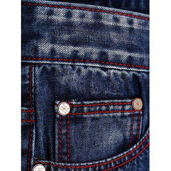Ripped and Repaired Jeans - DENIM BLUE 36