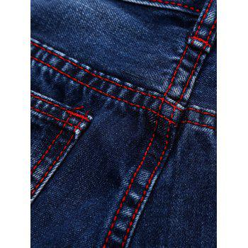 Ripped and Repaired Jeans - DENIM BLUE 38