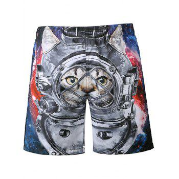 Cat Print Board Shorts
