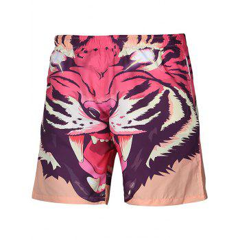 Drawstring Animal Pattern Shorts