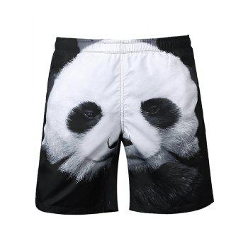 3D Panda Printed Board Shorts