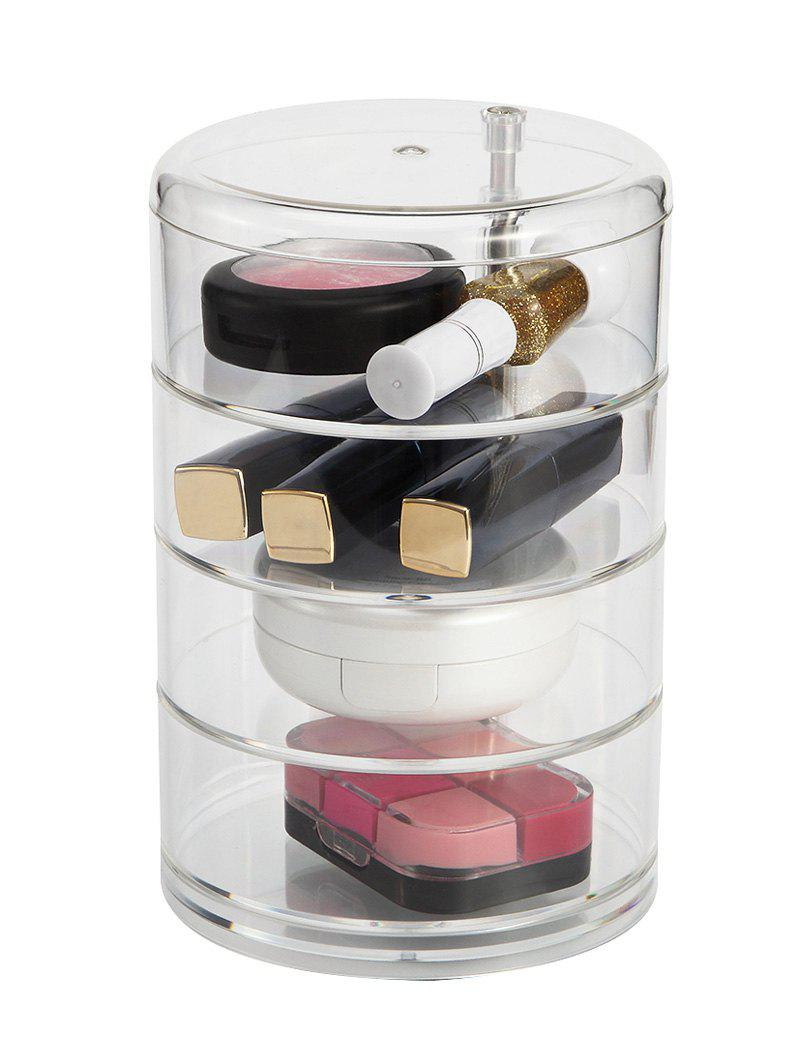 Maquillage de bureau cylindrique Maquillage de stockage Organizer - Transparent