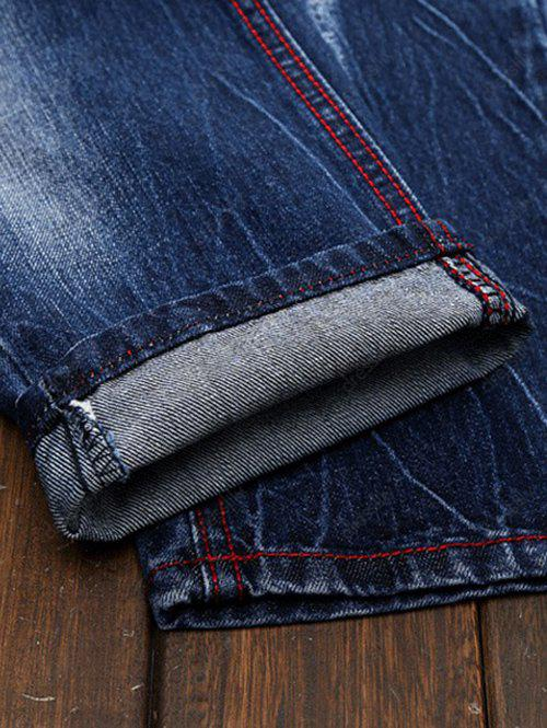 Ripped and Repaired Jeans - DENIM BLUE 40