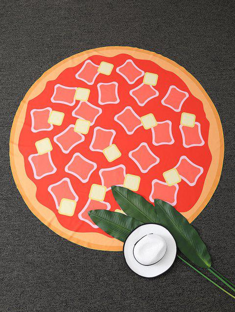 Hot Dog Pizza Imprimer Plage ronde Throw - Tangerine ONE SIZE