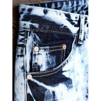 Skinny Ripped Washed Jeans - DENIM BLUE 38
