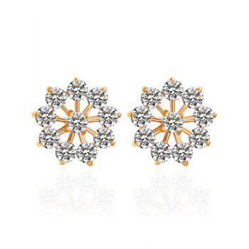 Rhinestone Snowflake Stud Earrings