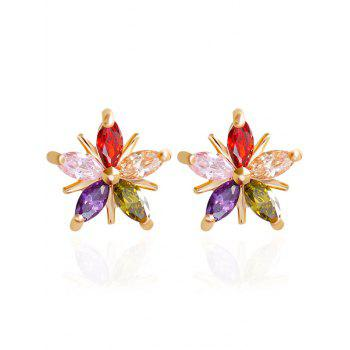 Rhinestone Floral Stud Earrings