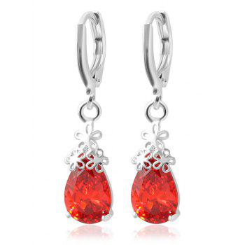 Flower Water Drop Earrings