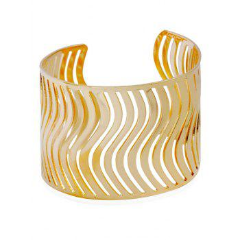 Hollow Out Wavy Cuff Bracelet