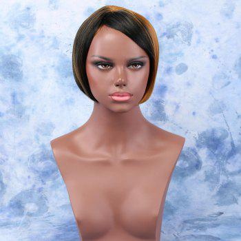 Women's Stunning Ombre Color Short Straight Side Bang Synthetic Wig
