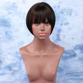 Short Straight Full Bang Sophisticated Synthetic Capless Wig