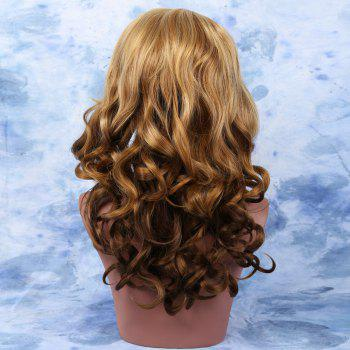 Mixed Color Long Wavy Side Bang Alluring Synthetic Wig For Women - COLORMIX