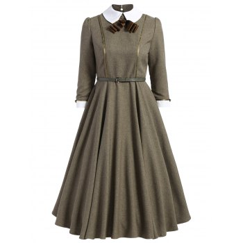 A Line Collared Midi Dress