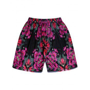 Loose Fitting Floral Shorts