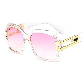 Metallic Spliced Hollow Out Leg Ombre Sunglasses