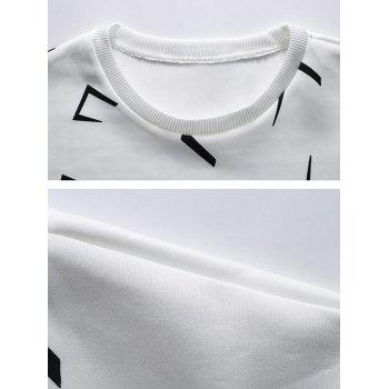 Scattered Printed Crew Neck Tee - L L