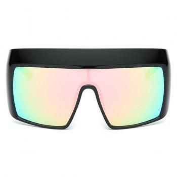 Windbreak Oversize Wrap Frame Reflective Sunglasses -  SHALLOW PINK