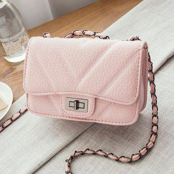 Metal Detail Quilted Crossbody Bag