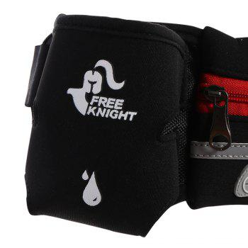 Freeknight Reflective Headphone Jack Waist Bag with One Water Bottle -  RED