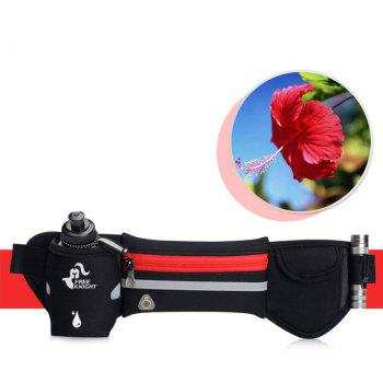 Freeknight Reflective Headphone Jack Waist Bag with One Water Bottle - RED RED