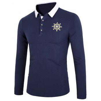 Long Sleeve Embroidery Polo Shirt