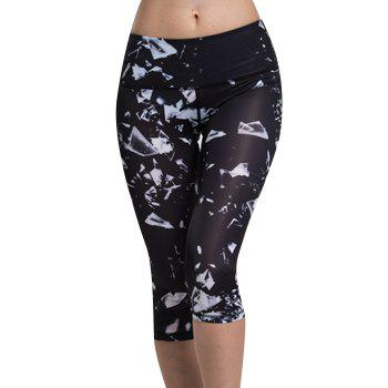 Chic Women's High Waist Printed Sport Leggings