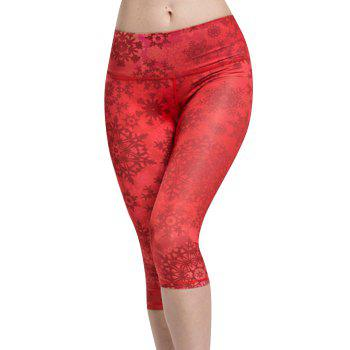 Chic Women's High Waist Snowflake Sport Leggings