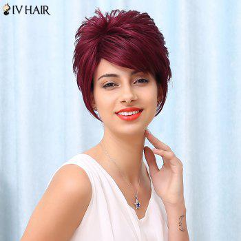 Siv Spiffy Short Side Bang Fluffy Straight Human Hair Wig