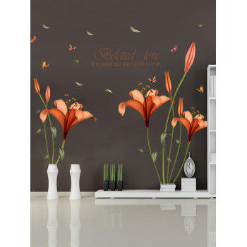 Love Quote Floral Wall Stickers