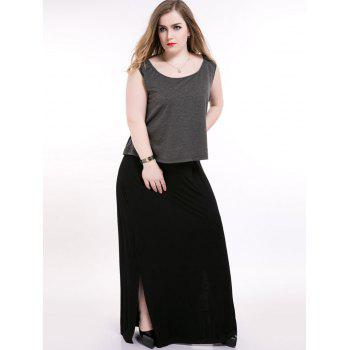 Sleeveless Maxi Plus Size Dress