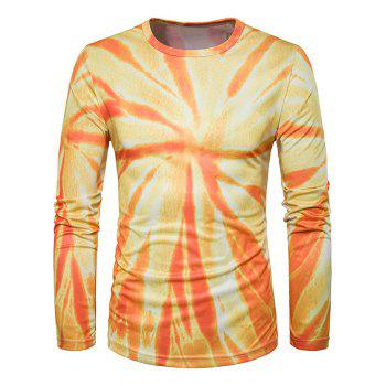 Long Sleeve Ombre Vortex Tie Dye Trippy T-Shirt