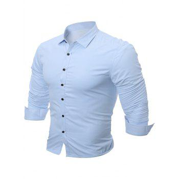 Long Sleeve Slim Fit Flocking Shirt