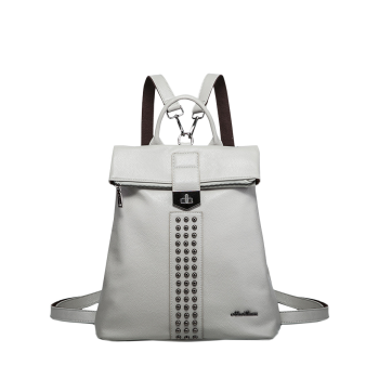 Faux Leather Rivets Detail Backpack