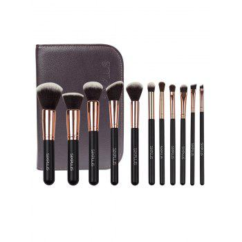 11 Pcs Makeup Brushes Set with Brush Organizer
