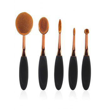 5 Pcs Toothbrush Shape Foundation Brushes Set