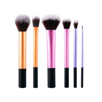 6 Pcs Multipurpose Colorful Makeup Brushes Set