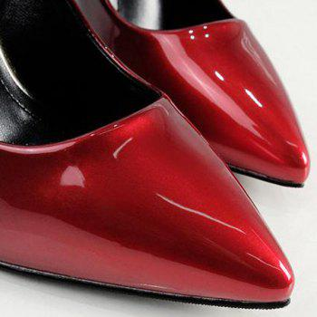 Crystal Heel Ombre Pumps - RED 38