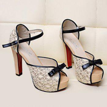 Peep Toe Bowknot Sandals