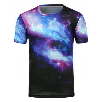 Short Sleeves 3D Galaxy Printed T-Shirt