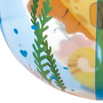Transparent Inflatable Beach Ball with Animal Inside -  YELLOW