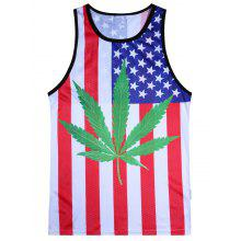Patriotic 4th of July American Flag Tank Top