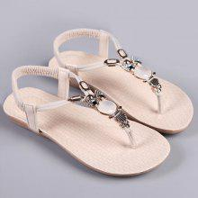 Flat Heel Elastic Band Sandals