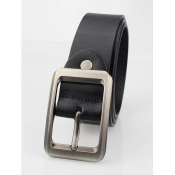 Rectangle Pin Buckle Leather Belt