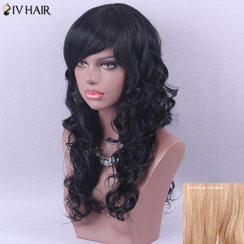Siv Hair Elegant Long Curly Side Bang Human Hair Wig