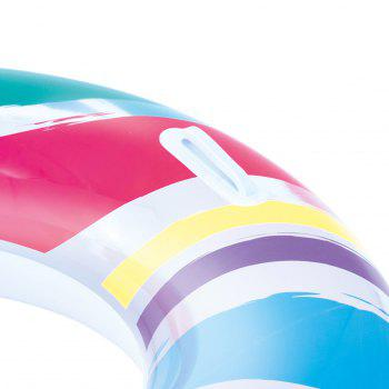 Striped Swim Ring with Handles - BLUE/PINK