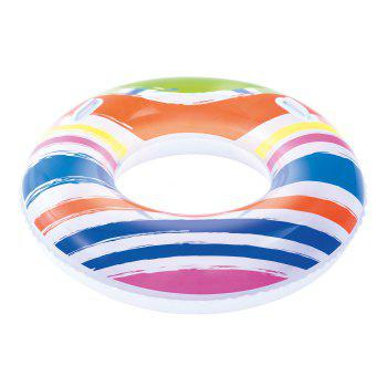 Striped Swim Ring with Handles - YELLOW / GREEN / BLUE