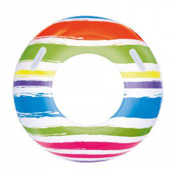 Striped Swim Ring with Handles