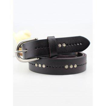 Rivet Insert Pin Buckle Leather Belt