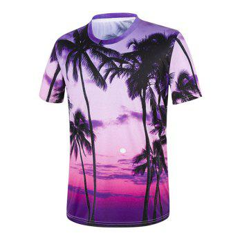 Setting Sun Tropical Palm Tree T-Shirt